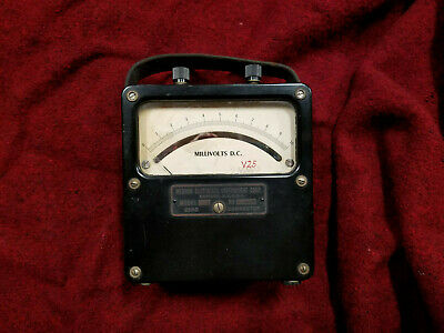 Weston Electric Instrument Model 430 #870 DC Milli-Voltmeter; Fully Functional
