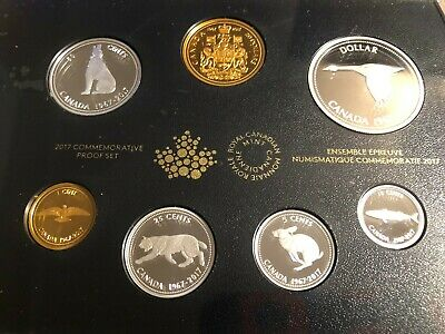 2017 Royal Canadian Mint Pure Silver 7-Coin Proof Set - 1967 Centennial Coins