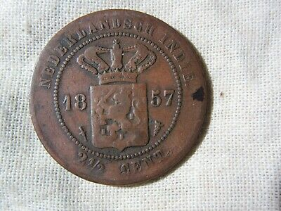 1857 Netherlands  2 1/2 Cent   Coin