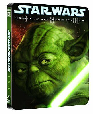 Star Wars Prequel Trilogy Episodes 1 2 3 Blu Ray Steelbook New 3 Movies Region B
