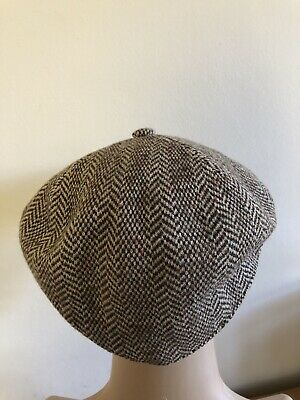 Kangol Design Made in England, Men's Brown Tweed Bakers Cap / Hat Size: XL