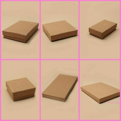 1 x  Natural Brown Kraft Paper Gift Box / Jewellery Presents Crafting