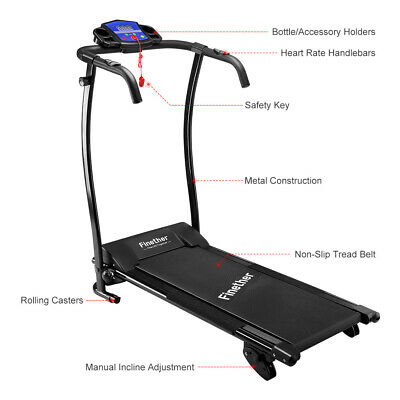 Finether PRO TREADMILL Fixed Incline Electric Motorised Folding Running Machines