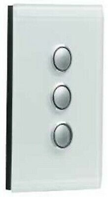 Clipsal SATURN SERIES GRID & PLATE ASSEMBLY 3-Gang Switch/Push Button OCEAN MIST