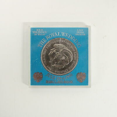 1981 Barclays Royal Wedding Commemorative Coin Lady Diana Prince Charles #705