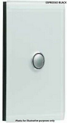 Clipsal SATURN GRID & PLATE ASSEMBLY 1-Gang Switch/Push Button ESPRESSO BLACK