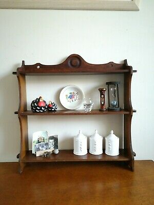 Solid Oak Delph Dresser Rack Shelf Unit