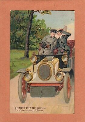 1212 - Gaufree Embossed - Oldtimer Voiture Car Automobile Coche - Ecrite