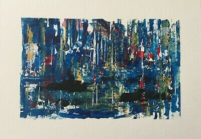 `Southampton` Original Signed Painting in Gesso/Watercolour/Acrylic.