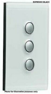 Clipsal SATURN GRID & PLATE ASSEMBLY 3-Gang Switch/Push Button ESPRESSO BLACK
