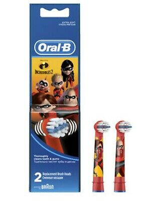 Braun Oral-B Incredibles 2 Toothbrush Replacement Brush Head stages power