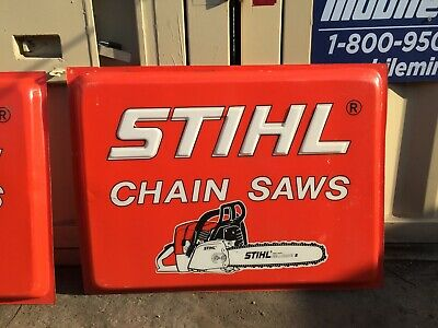 "Stihl Chain Saws Sign, Large, (approx) 48"" x 36"""