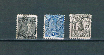 New Zealand - 1882 QV Portraits - Perf 11 - SC 67A-69 [SG 236,239,242] Used 19