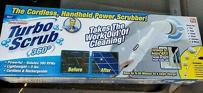 Turbo Scrub - 360 Cordless, Rechargeable Floor Scrubber and Tile Cleaning