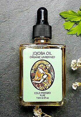 Jojoba Oil Golden Certified 100% Organic 15ml Cold Pressed. Glass Dropper Bottle