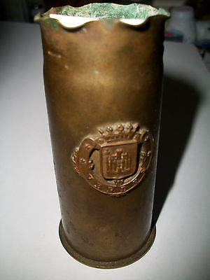"Trench Art Casing From The Battle of Verdun With ""Verdun Crest"""