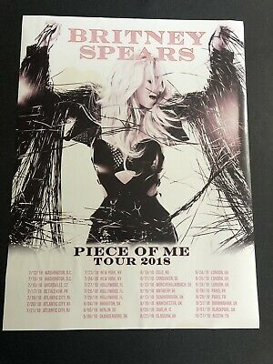 Britney Spears Piece Of Me Tour Poster 2018 Rare Fan Promo *Slightly damaged*