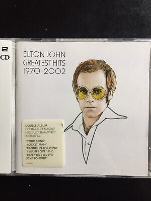 Elton John Greatest Hits 1970-2002 Used 34 Track Best Of Cd Rock Pop Rocket Man