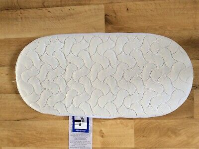 Mamas & Papas Baby Moses Basket Quilted Breathable and Washable Mattress Cover