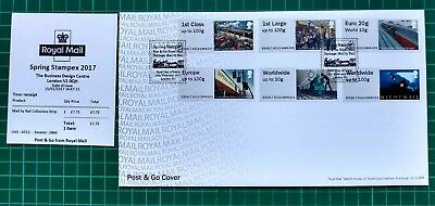 AO12 Mail By Rail Spring Stampex Print 2017 Post & Go Collector strip FDC