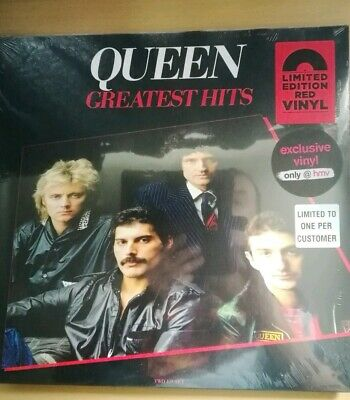 QUEEN - Greatest Hits Double Red Vinyl LP (Exclusive Limited Edition HMV) Sealed