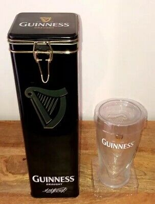 GUINNESS - Limited Edition Glass & Collectors Tin Breweriana Very Rare Mint