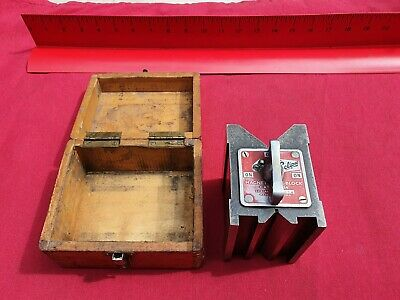 Vintage Eclipse Magnetic Vee Block 934 in Very Good Used Condition Strong Magnet