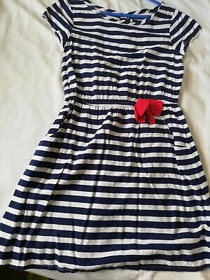 GIRLS GAP KIDS holiday striped summer PARTY DRESS  AGE 6 - 7 YEARS WORN Once VGC