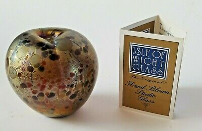 "Isle of Wight Studio Glass Paperweight ""Goldberry"" Summer Fruits w/ Certificate"