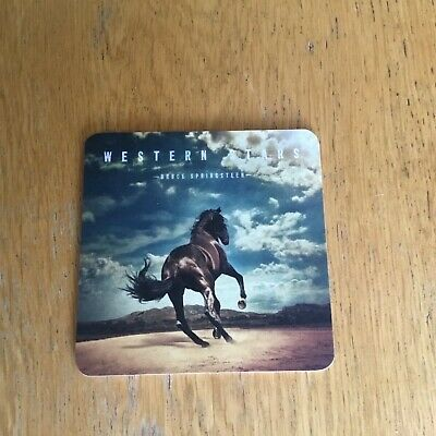 Bruce Springsteen - Western Stars promotional drinks coaster RARE