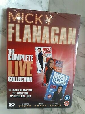 Micky Flanagan The Complete Live Collection 3 Disc DVD New & Sealed