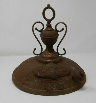 Parlor Stove Top Simmon's Wilson #30 Rusty Pot Belly