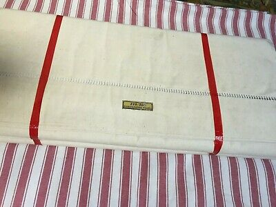 Vintage French Pure Cotton Sheets-PAIR-Ladder Edge-Unused-Double Bed 3mLx2m20