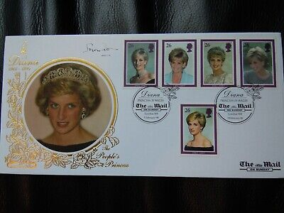 Diana, Princess of Wales 1998 first day cover signed Lord Snowdon Mail On Sunday
