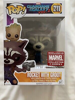 Guardians Of The Galaxy 2 Pop Vinyl Rocket With Groot (No. 211)