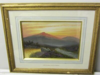 Original Watercolour of Brent Tor Dartmoor by Alfred Grahame in a Gilt Frame