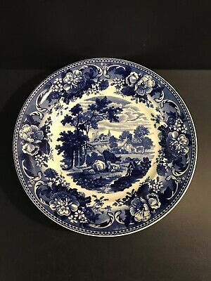 Wedgwood Queens Ware Ltd Edition Plate Pastoral. Blue And White