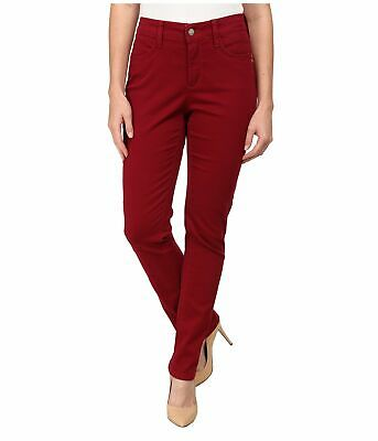 NWT NYDJ Not Your Daughters Jeans CLARET RED Samantha SLIM FIT $130 Petite Pants