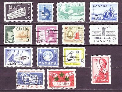 Canada Collection of 14 Different used