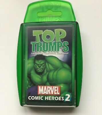 Marvel Comic Heroes 2 Top Trump Playing Cards Card Game - Collectable Superhero