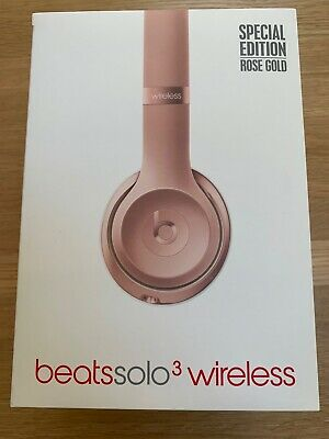 Beats by Dr. Dre Solo 3 Wireless Headband Headphones Special Edition Rose Gold