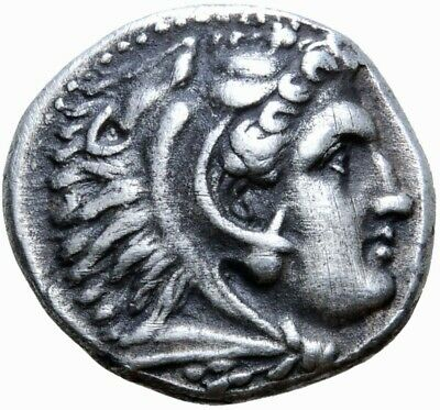 Alexander the Great. Excellent Drachm. Lifetime Issue. Greek Silver Coin.