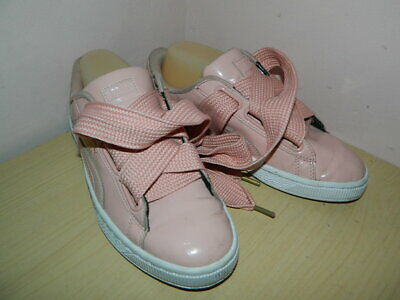 WOMENS PUMA BASKET Heart coral lace up shoes trainers uk 5 eur 38