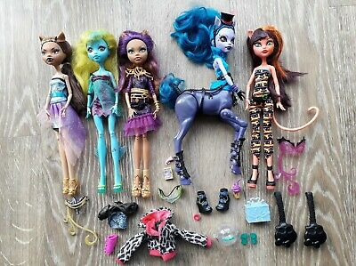 Monster High Dolls x5 with Accessories