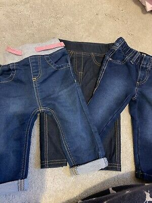 3 Pairs Jean Jeggings 6-9 Month Girls