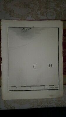 1794 - John Cary map genuine item map 6 English channel