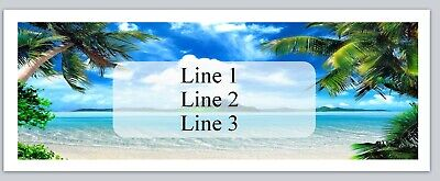 jx 6 Personalized Address labels Beach Scene Palm Trees Buy 3 get 1 Free