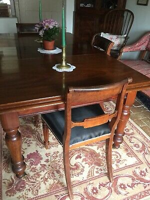Set Of Four Antique Georgian Dining Chairs Mahogany
