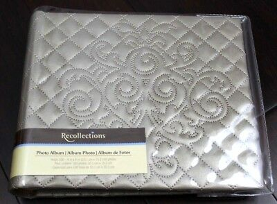 Recollections Photo Journal Album Holds 100 photos Quilted Pattern