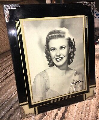 Beautiful Vintage Rare Ginger Rogers Framed Rko Publicity Photo Dancer Actress
